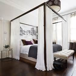schlafzimmer himmelbett white bedroom with four poster bed bedroom decorating housetohome co uk