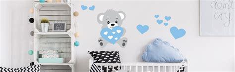 stickers chambre bébé nounours stickers chambre d 39 enfant et bébé autocollant mural et