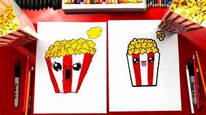 how to draw popcorn for hub