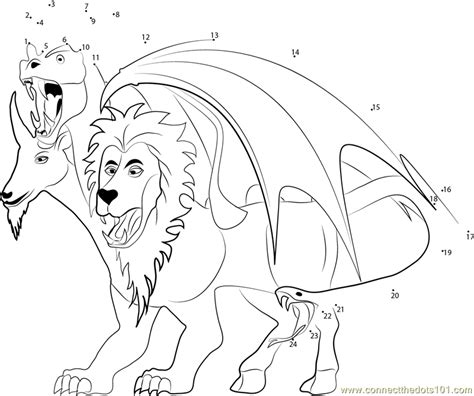 chimera template chimera coloring pages