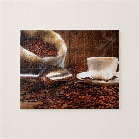 Look for the dots along the edge of the screen to find missing pieces. Fresh Ground Coffee Jigsaw Puzzle | Zazzle.com