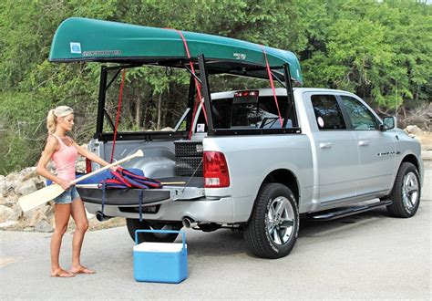 canoe rack for truck zee invis a rack rack for contractors and kayaks