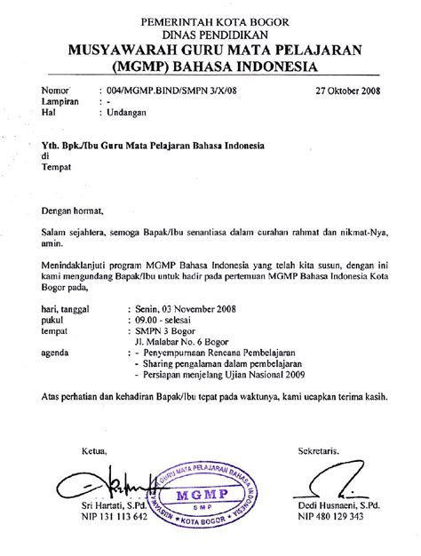 contoh surat undangan resmi yang benar silop