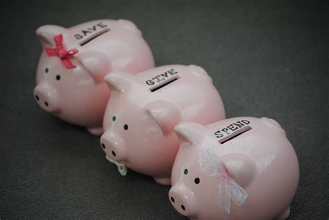 """""""save, Give, Spend"""" Piggy Banks"""
