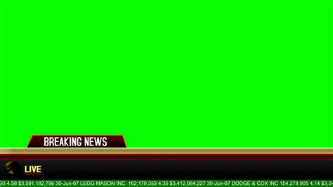 banner news template breaking news banner green screen animation youtube