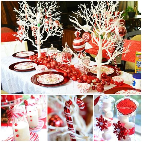 karas party ideas candy cane winter wonderland party