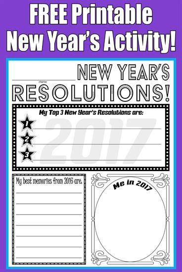 free printable 2018 new year s resolution activity new years activities new years resolution