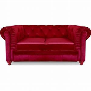 canape 2 places chesterfield velours rouge pas cher With tapis ethnique avec canapé chesterfield velours rouge