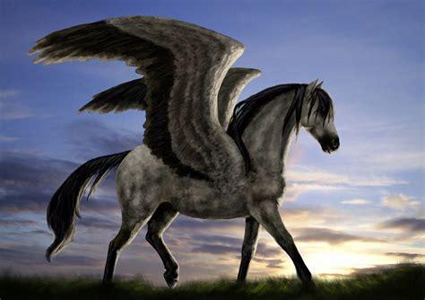 pegasus wings horse brown