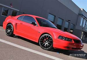 "2003 Ford Mustang with 20"" Giovanna Kilis in Matte Black wheels 