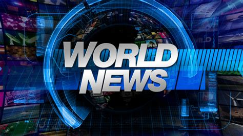 World News by World News Broadcast Graphics Title Motion Background