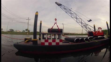 crane barge  scale  rc crane  tug boat youtube