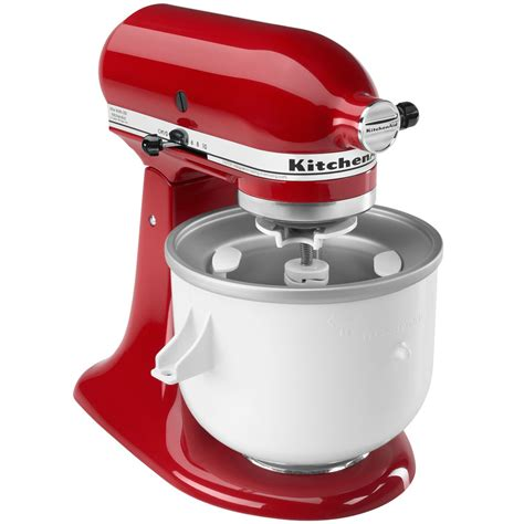 kitchenaid stand mixer ice cream maker attachment instructions