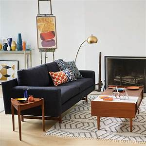 Where to shop for mid century modern sofas for Mid century style sectional sofa
