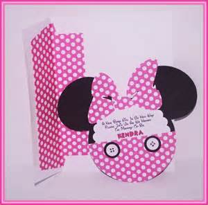 babyshower theme bellísimas invitaciones de minnie mouse baby shower