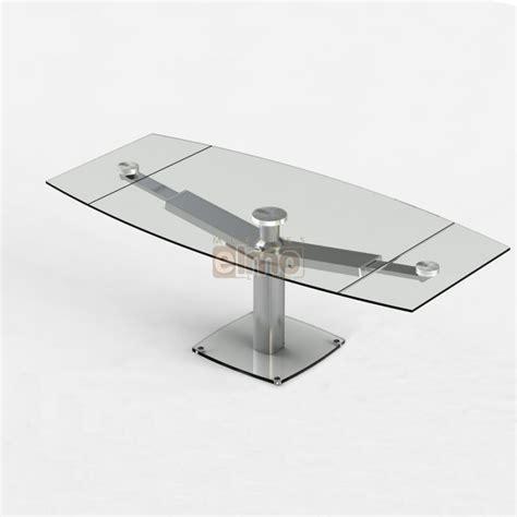 ensemble table chaises cuisine table repas moderne extensible pied acier verre