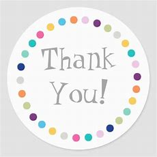 Modern Dots Thank You Sticker Zazzle