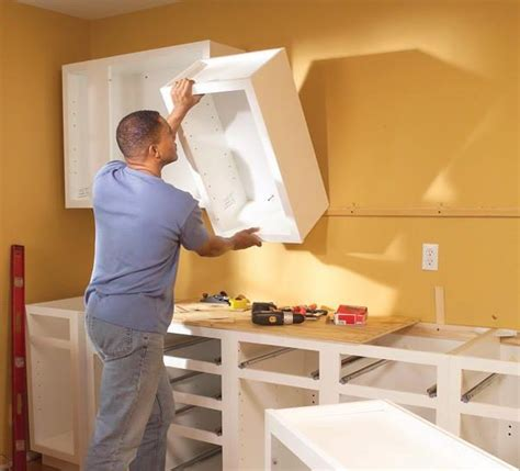 Kitchen Cabinet Installation by Installing Wall Cabinet How To Install Cabinets Alba