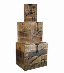 Malle En Bois : grande malle de rangement en bois style industriel paloma ~ Melissatoandfro.com Idées de Décoration