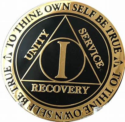 Chip Medallion Aa Sobriety Gold Plated Walmart