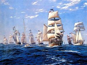 Free shipping gobelin tapestries, ships on the sea Fabric