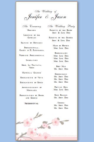free downloadable wedding program template that can be printed wedding program templates free printable wedding program templates