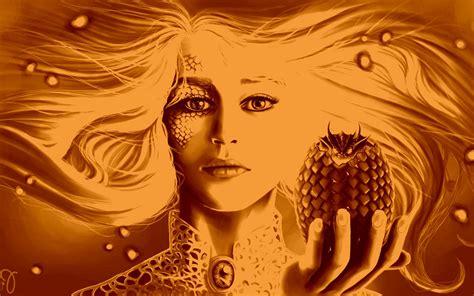 daenerys targaryen game  thrones dragon artwork
