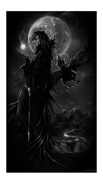 Fantasy Moon Dark Gifs Magical Darkness Gothic