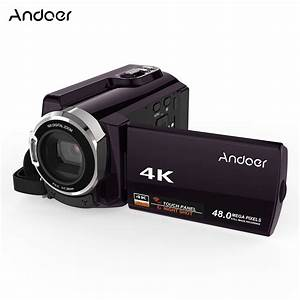 "Andoer HDV 534K 4K 48MP WiFi Digital Video Camera 1080P Full HD Novatek 96660 Chip 3"" Touch IR ..."