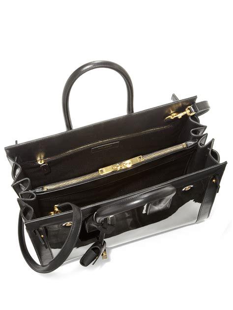 range sac a yves laurent black croc embossed nano sac de jour tote yves laurent tote handbags
