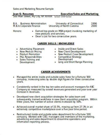marketing resume format template 7 free word pdf format download free premium templates