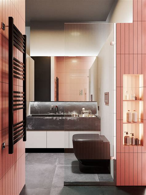 Small Living Streamlined Studio Apartment by Stylish Streamlined One Room Living Interior Design