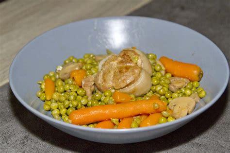 cuisiner petit pois carotte en boite paupiettes aux petits pois carottes recettes cookeo