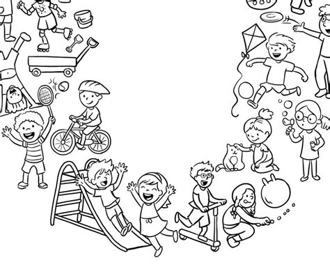 Kinder Wereldkaart Kleurplaat by Studio Sabine Illustraties Ontwerp Kleurplaat