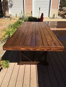 DIY Large Outdoor Dining Table - Seats 10-12 Hometalk