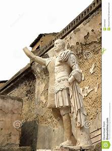 Statue In The Ancient Roman Herculaneum, Italy Stock ...