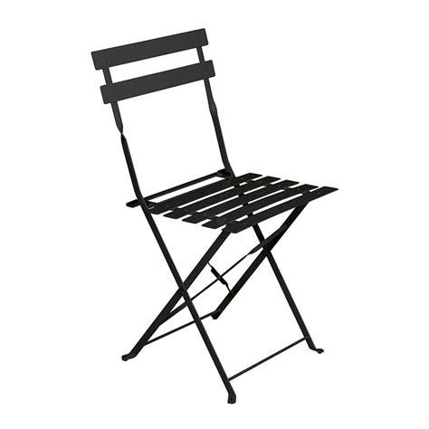 chaises pliantes de jardin lot de 2 chaises de jardin pliantes camargue noir