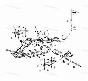 Polaris Atv 2003 Oem Parts Diagram For Frame Body