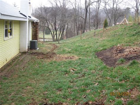 Dealing with negative slope towards house (homestead forum ...
