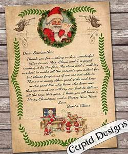 santa letter personalized letter from santa claus With personalized christmas letters from santa claus
