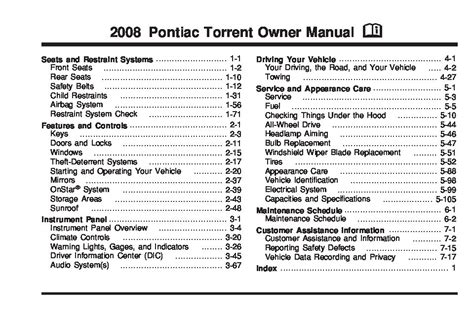 pontiac torrent owners manual  give   damn