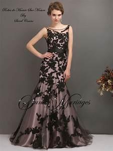 Robe De Mariée Noire : robe de mari e couleur dentelle noire coupe sirene sunny ~ Dallasstarsshop.com Idées de Décoration