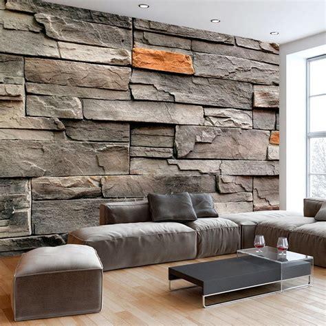Bescheiden Wohnzimmer Ideen Steinwand Bescheiden 3d Tapete Stein Haus Fototapete Steinmauer
