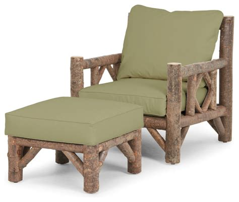 rustic club chair rustic ottoman by la lune collection