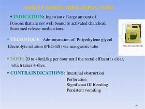 Poisoning Polyethylene glycol-electrolyte solution (PEG-ES)
