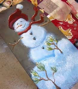 how to paint a snowman snowmen