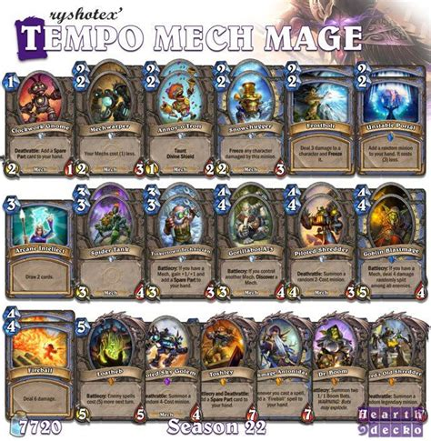 Tempo Mage Deck Hearthpwn by 17 Best Ideas About Hearthstone Mage Deck On