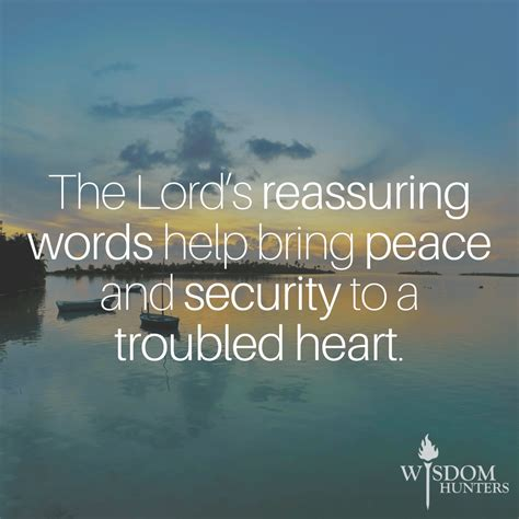 reassuring words wisdom hunters