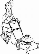 Lawn Mower Coloring Het Maaien Gras Stand Huis Sprinkler Vector Drawing Clip Kleurplaten Illustrations Kleurplaat Voorwerpen Bezigheden Rond Farm Sketch sketch template