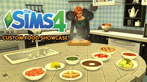 customisation cuisine the sims 4 custom food showcase